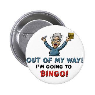 Amantes del bingo chapa redonda de 5 cm