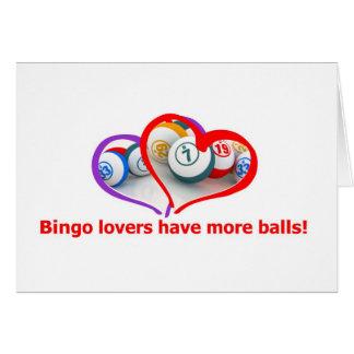 amantes del bingo tarjeta de felicitación
