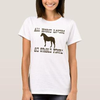 Amantes del caballo camiseta