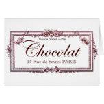 Amantes del chocolate…. ame este arte del francés  tarjeta