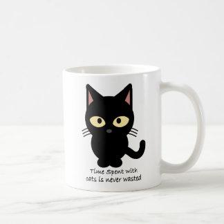 Amantes del gato. El tiempo pasado con los gatos Taza De Café