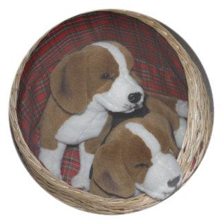 Amantes del perro - juguete suave plato