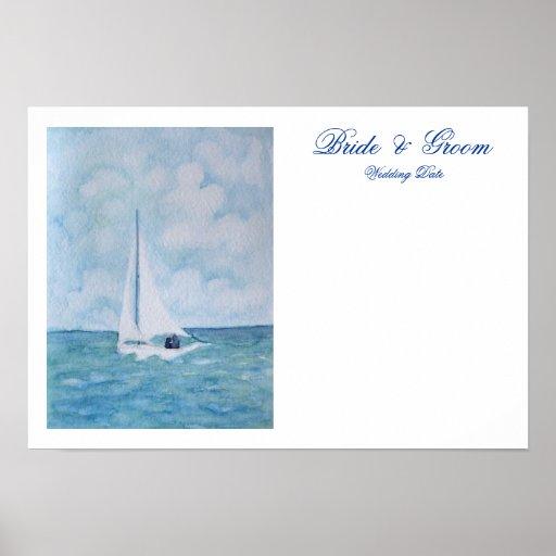 Amantes en un velero - firma de la huésped posters