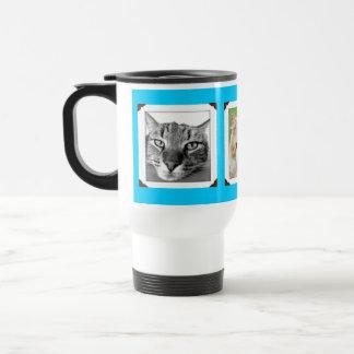 Amantes preferidos del gato de las fotos del taza térmica