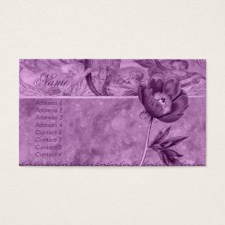 Amapola de la violeta africana tarjeta de negocios