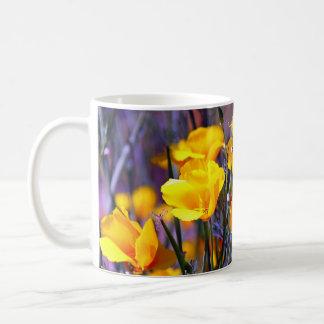Amapola de oro taza de café