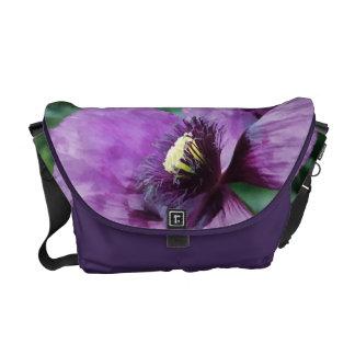 Amapola púrpura/amapola violeta bolsa de mensajeria