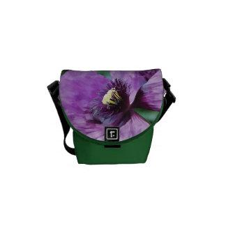 Amapola violeta bolsas de mensajería