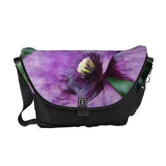 Amapola/violeta púrpuras bolsas de mensajería