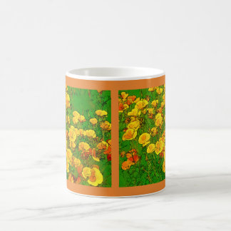 Amapolas de California anaranjadas 01,2 Taza De Café