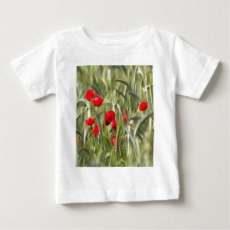 Amapolas de maíz camiseta de bebé