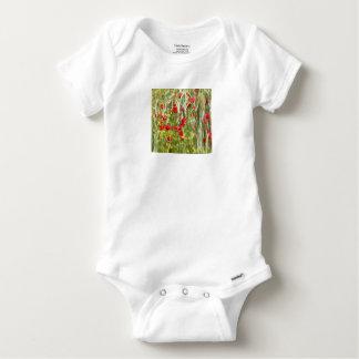 Amapolas de maíz rojas body para bebé