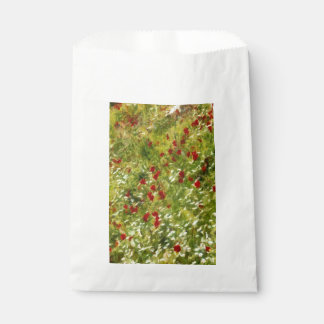 Amapolas impresionistas bolsa de papel
