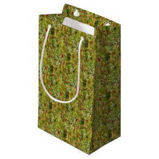 Amapolas impresionistas bolsa de regalo pequeña
