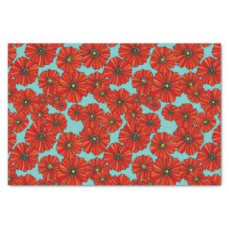 amapolas rojas en el papel seda polvoriento de la