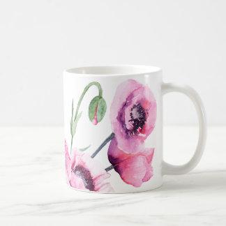 Amapolas rosadas taza de café