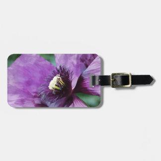 Amapolas violetas/amapolas púrpuras etiquetas de equipaje