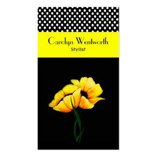 Amapolas y tarjeta de visita amarillas bonitas del