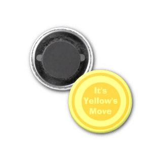 Amarillo 1-1/4 del marcador del ~TAG~ de los inspe Imanes