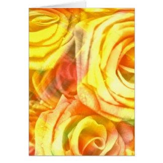 amarillo a cuadros de los rosas tarjeton