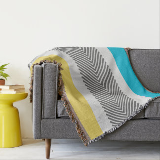 Amarillo abstracto geométrico y modelo moderno de manta