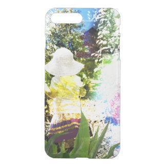 Amarillo azul de la flor del rosa del collage de funda para iPhone 7 plus