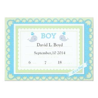 Amarillo/azul (tema) es una invitación del bebé invitación 12,7 x 17,8 cm