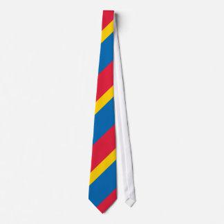 Amarillo azul y rojo rayados corbatas