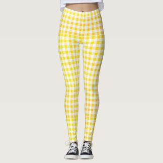 amarillo - blanco leggings