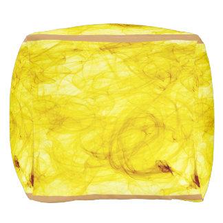 amarillo brillante alrededor pouf