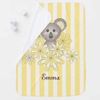 Amarillo conocido animal lindo del bebé del chica mantitas para bebé