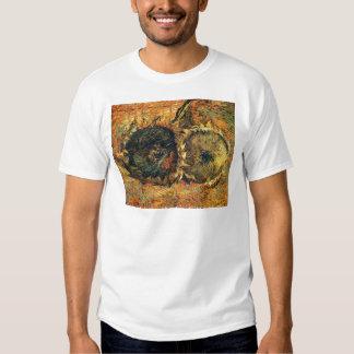 Amarillo cortado de dos girasoles - Vincent van Camisetas