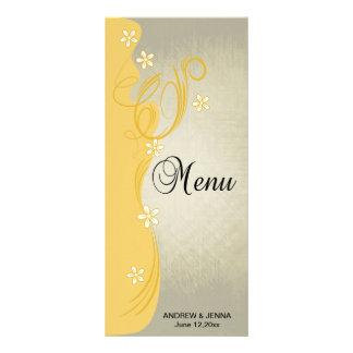 Amarillo Curvy con clase de la nata del diseño el Tarjeta Publicitaria Personalizada