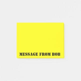 Amarillo de Dayglow de las notas de Bob