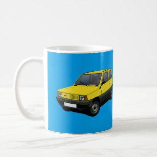 Amarillo de Fiat Panda 45 Taza De Café