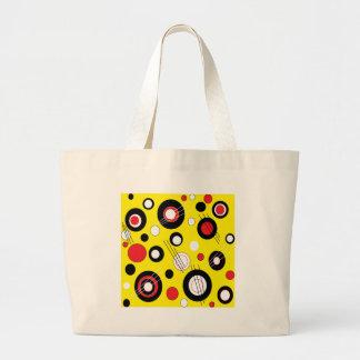 Amarillo de la polca bolsas de mano