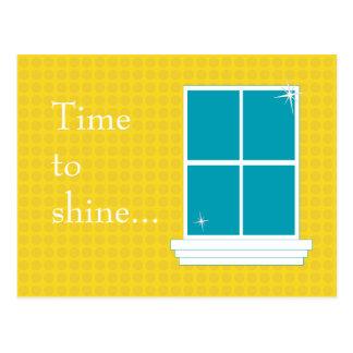 AMARILLO de la postal de la limpieza de ventana