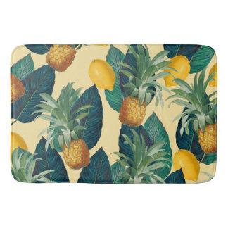 amarillo de los limones de las piñas alfombrilla de baño