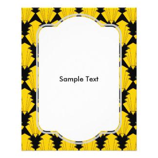 Amarillo del art déco folleto 11,4 x 14,2 cm