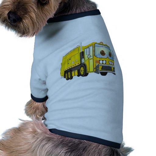Amarillo del camión de basura del dibujo animado camiseta de ...