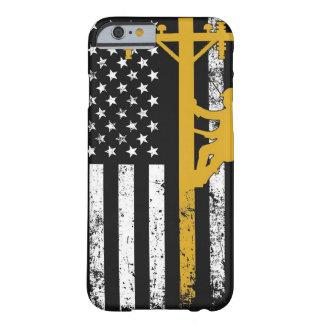 Amarillo del caso del instalador de líneas funda barely there iPhone 6