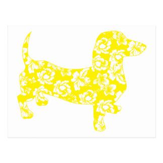 Amarillo del Dachshund de la hawaiana Postal