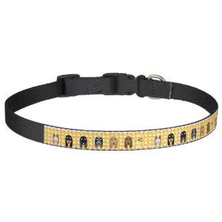 Amarillo del equipo del cocker collar para mascotas