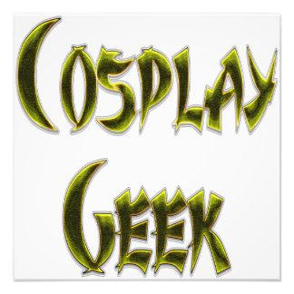Amarillo del friki de Cosplay Impresión Fotográfica