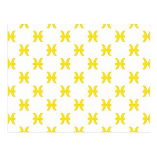 Amarillo del modelo de Piscis Postales