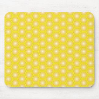 Amarillo del panal en vector amarillo tapetes de raton