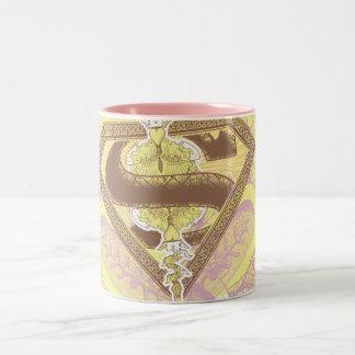 Amarillo del teatro de la ópera de Supergirl Taza De Dos Tonos