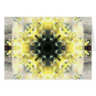 Amarillo en amarillo tarjeta de felicitación