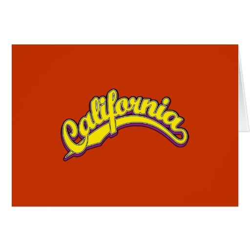 Amarillo en violeta tarjeta
