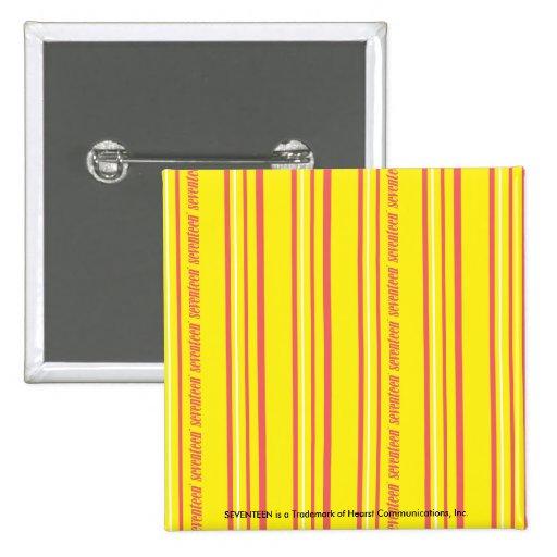 Amarillo fino de las rayas pins